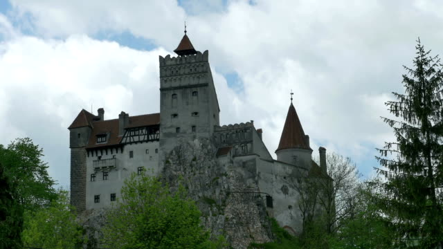 Dracula Fortress in Mountains Timelapse to the Dracula Castle in Transylvania. count dracula stock videos & royalty-free footage