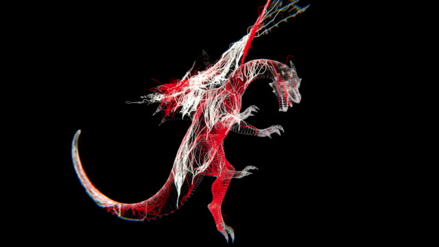 dragon abstract (hd) - dragon stock videos and b-roll footage