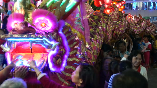 Dragon, Chinese New Year and people video