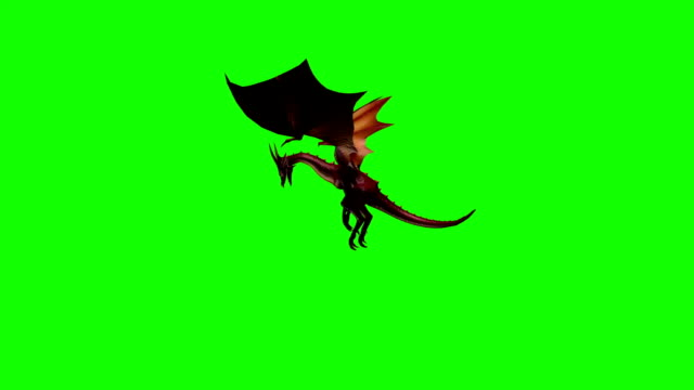 dragon fly attack 1 - green screen - dragon stock videos and b-roll footage