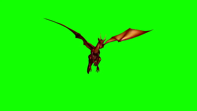 dragon fly attack 2 - green screen - dragon stock videos and b-roll footage