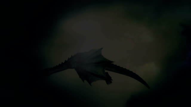 dragon flying in the sky under a storm - dragon stock videos and b-roll footage
