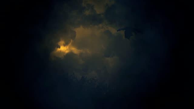 Dragon Flying Through a Lightning Storm