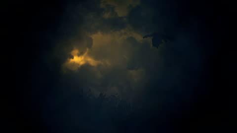 vidéos et rushes de dragon volant dans un orage - imagination