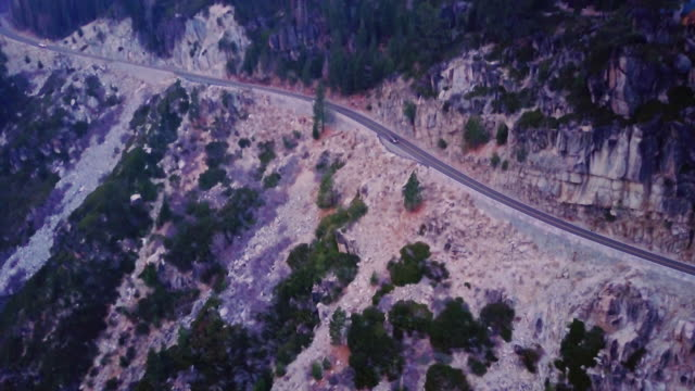 Dramatic Aerial Shot of Mountain Highway video