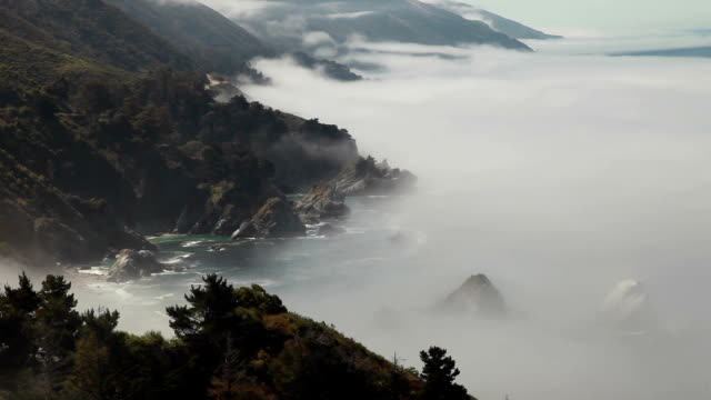 Dramatic Big Sur Landscape: California Coast video