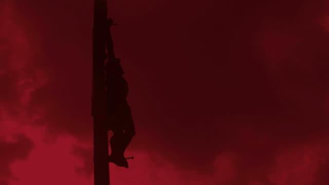 Dramatic Christ Cross Time Lapse video