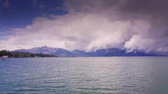Dramatic Cloud Over Lake Tahoe - Aerial View