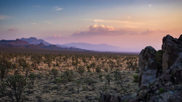 Dramatic Clouds at Sunset in Mojave National Preserve