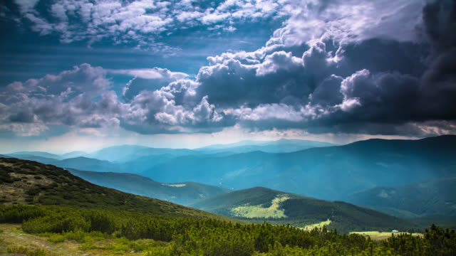TIME LAPSE: Dramatic Clouds in the Mountains video