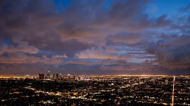Dramatic Clouds over Los Angeles: Timelapse video