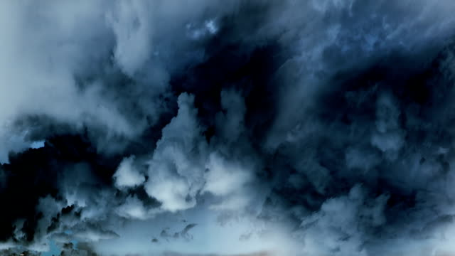 Dramatic clouds time lapse. Seamless loop video