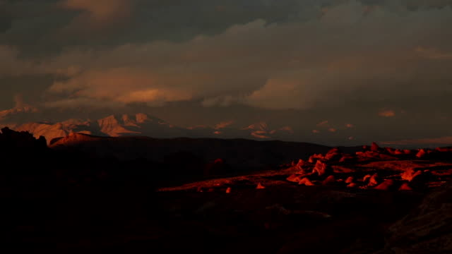 Dramatic Desert Landscape after a Storm video