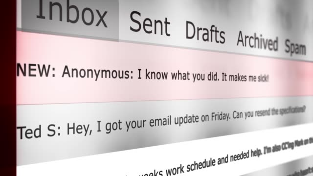 Dramatic Email Inbox Animation Series - Generic Blackmail Version - vídeo