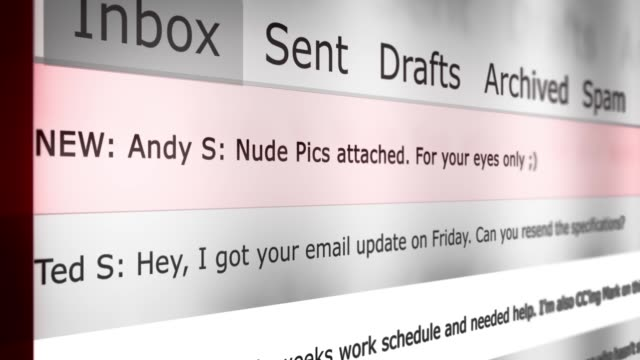 Dramatic Email Inbox Animation Series - Nude Photos Attached -Male Adultery Version - vídeo