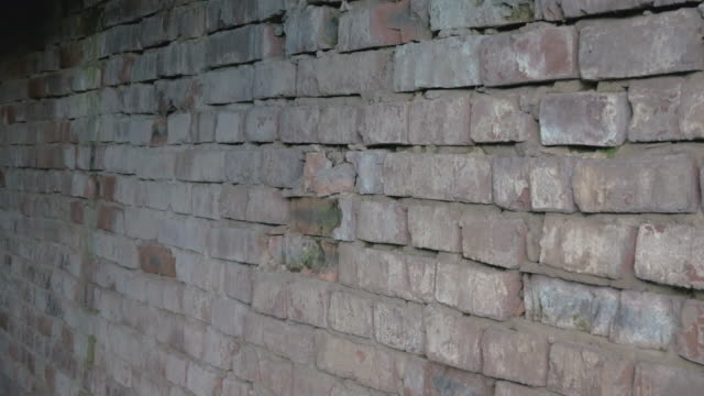 Dramatic Grey Brick Wall with old destroyed blocks