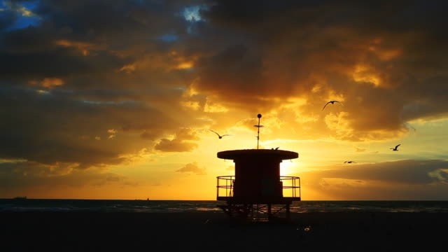 Dramatic Miami Beach sunrise video