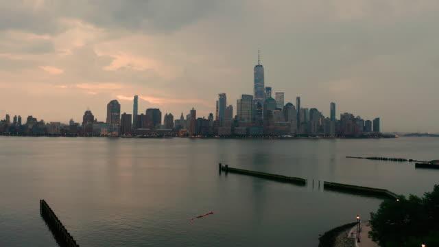Dramatic Sky Across the Entire Manhattan New York Skyline