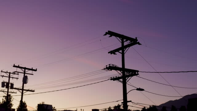 Dramatic Sky with Power Lines - Drone Video