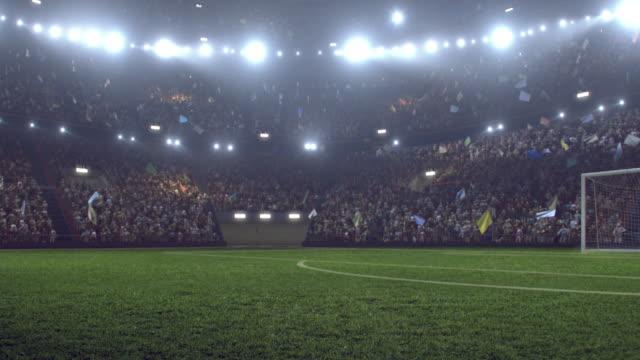 Dramatic soccer stadium full of spectators