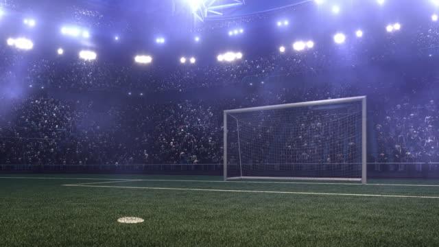 Dramatic soccer stadium with gates video