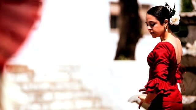 dramatische spanischer flamenco-tanz - spanien stock-videos und b-roll-filmmaterial