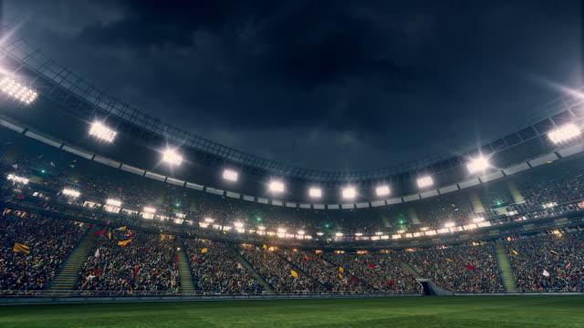 Dramatic stadium full of spectators
