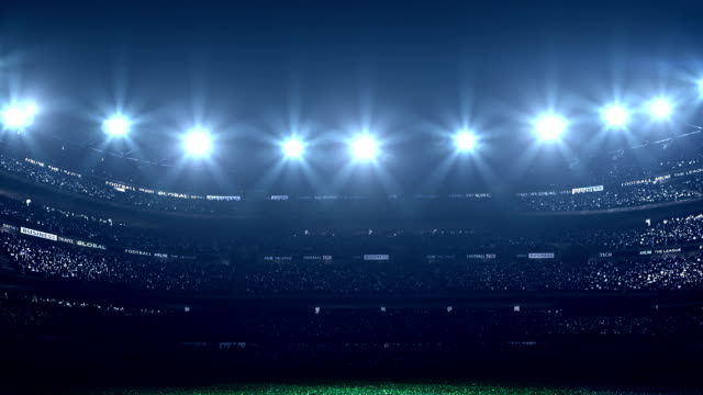 Dramatic stadium with no players video