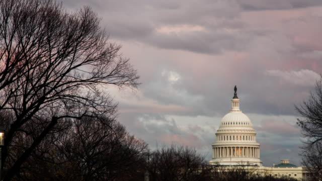 Dramatic Storm Behind the Capitol, Washington D.C. : 4k Timelapse