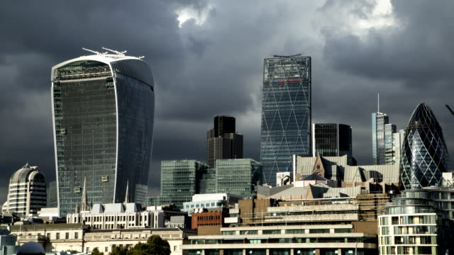 Dramatic Storm Clouds Cityscape Time Lapse video