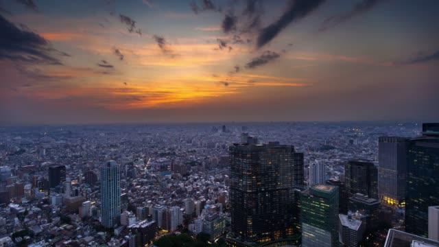 東京 - 時間の経過でドラマチックな日没 - 日没点の映像素材/bロール