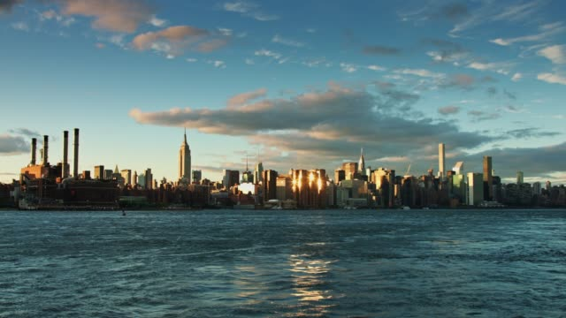 Dramatic View of Manhattan over East River video