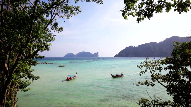 dramatic view of phi phi islands - phuket video stock e b–roll