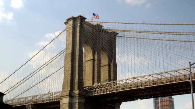 Dramatic View Under Brooklyn Bridge