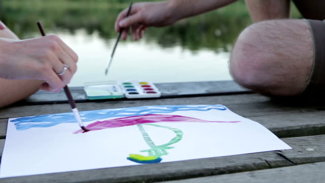 draw a toy-ship two hands draw ashore a toy-ship on a paper recreational boat stock videos & royalty-free footage