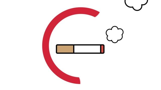 Draw animation of smoking cessation mark