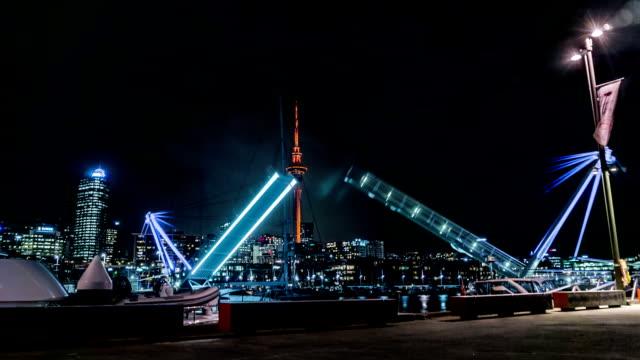 Draw bridge at Auckland's Silo Park video