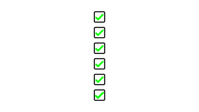 Drawing a green check in a black square checkbox