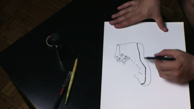 Drawing a sneaker video