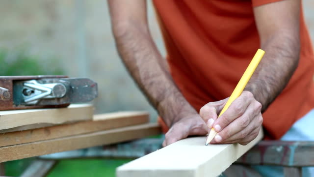 Drawing and preparing wooden board video