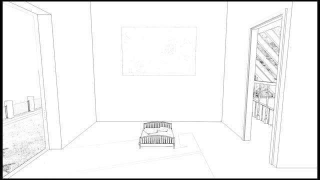 Drawing bedroom video