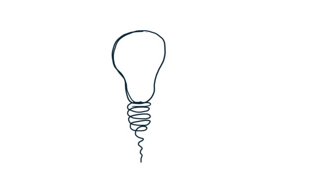 Drawing bulb light icon Hand-drawn animation bulb light icon. Doodle hand drawn. genius stock videos & royalty-free footage