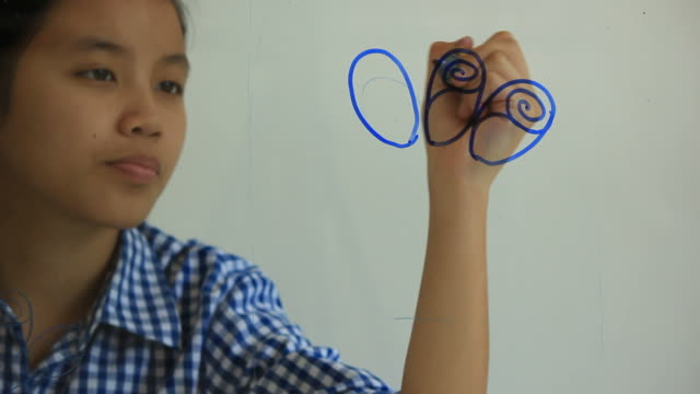 stockvideo's en b-roll-footage met drawing flower. - menselijke vinger