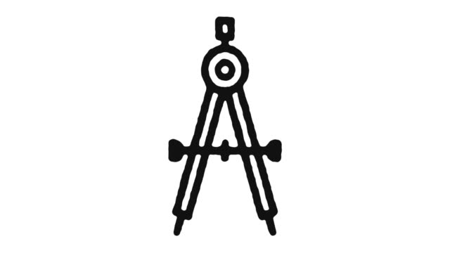 Drawing Icon Animation Footage & Alpha Channel