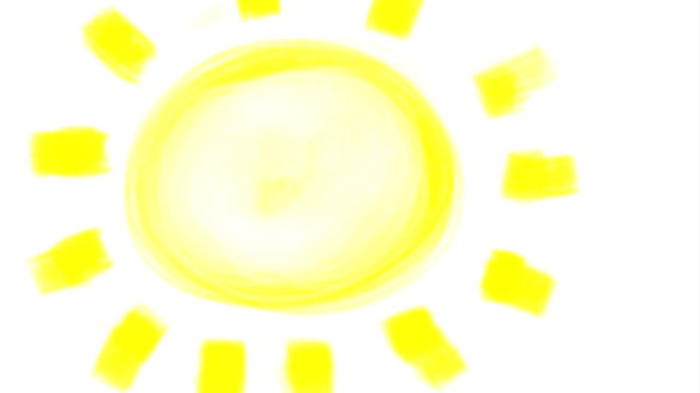 drawing of sun. - clip art video stock e b–roll