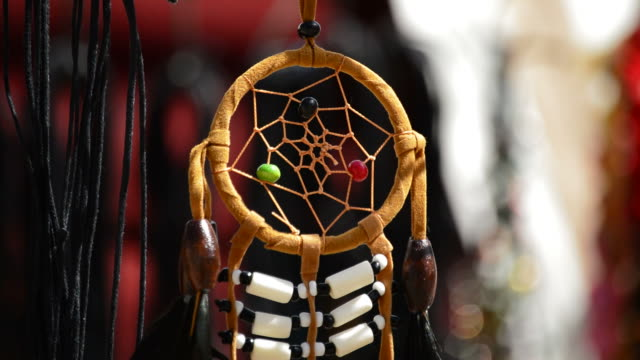 Dreamcatchers Hanging in a Display at Outdoors video