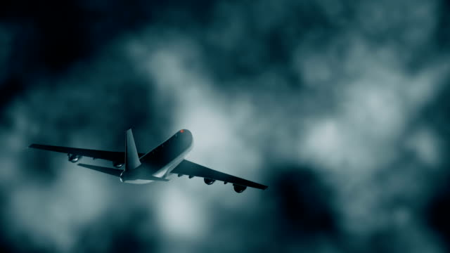 Dreamliner Night dreamliner flying through the clouds airfield stock videos & royalty-free footage