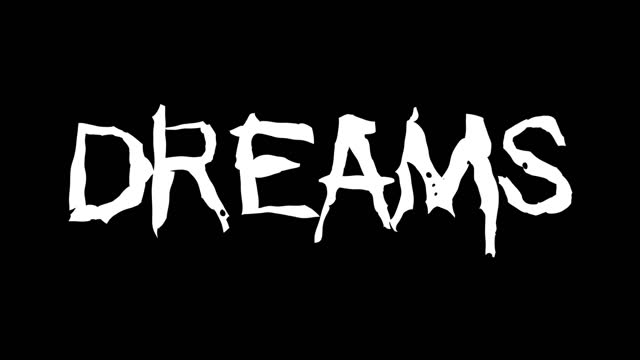 Dreams text hand drawn animation video