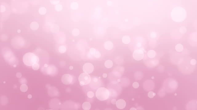Dreamy light pink bokeh background Dreamy animated light pink bokeh background with floating light particles. pink color stock videos & royalty-free footage
