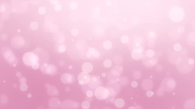 夢のようなライトピンクのボケの背景 - ピンク色点の映像素材/bロール
